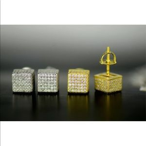 925 Sterling Silver Micro Pave CZ Stud Earrings